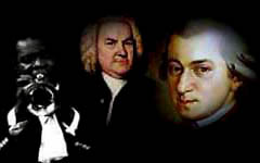 L.Armstrong, J.S Bach, W.A. Mozart
