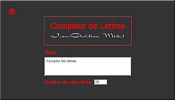 Compteurs De Lettres Et Caracteres Espaces Signes Mots Compter