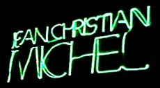 Logo Jean-Christian Michel  durig a Laser show